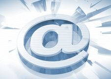 3D Email Icon. A 3D background with an Email sign Royalty Free Stock Photography