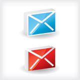 3d email icons. 3d email icon design set Royalty Free Stock Image