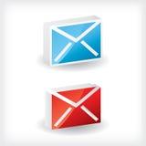 3d email ikony Ilustracji