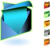3d email ikony Royalty Ilustracja