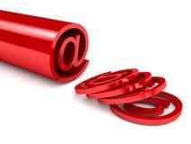 3d email odpłaca się szyldowego biel Ilustracja Wektor