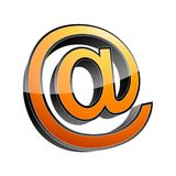 3d email sign Royalty Free Stock Image