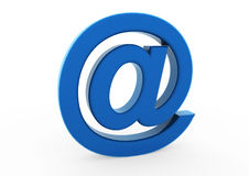3d email symbol blue. Isolated on white background Stock Photos
