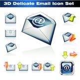 3d emaili ikony set ilustracja wektor