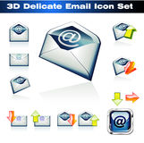 3D Emails Icon Set. Colorful 3D Emails Icon Set Stock Images