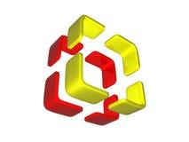 3D embleem Stock Afbeelding