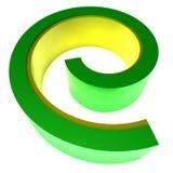 3D embleem grafische werveling stock fotografie
