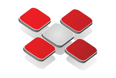 3D embleem rood kruis Stock Afbeelding
