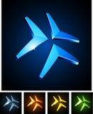 3d emblems vibrerande stock illustrationer