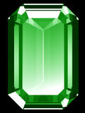 3d Emerald. A render of a 3d Emerald isolated on a black background Stock Image