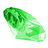 3d Emerald Gem Isolated Royalty Free Stock Photos
