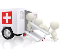 3D emercency ambulance Stock Photo