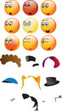 3D emoticons Royalty Free Stock Image