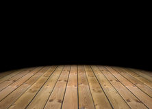 3d empty abstract dark room. With a wood floor Stock Photography