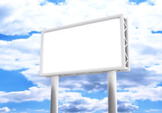 3d,empty billboard and sky in the background Royalty Free Stock Image