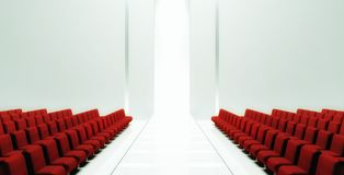 3d Empty fashion runway Royalty Free Stock Photo
