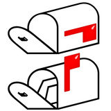 3d empty and full mailbox Stock Photography