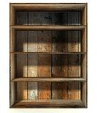 3d empty grunge wood shelf Stock Photo