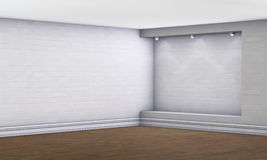 3d empty niche with spotlights Royalty Free Stock Image