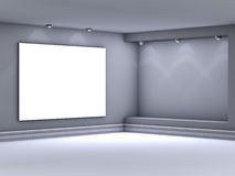 3d empty niche with spotlights for exhibit Royalty Free Stock Image