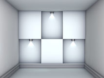 3d empty niches with spotlights for exhibit Stock Photo