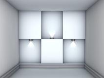 3d empty niches with spotlights for exhibit Royalty Free Stock Images