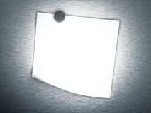 3d Empty note on metal background Royalty Free Stock Photography