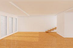 3d empty room. With stairs Stock Photos