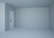 3d empty room with door Stock Photos