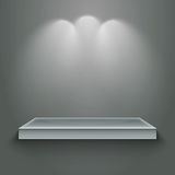 3d  empty shelf. For exhibit. Vector illustration Stock Photo