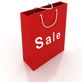 3d empty shopping bag Royalty Free Stock Images