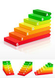 3d energy efficiency concept. Vector Illustration Royalty Free Stock Photography