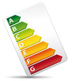 3D Energy Rating Graph diagnosis. Stock Image