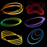 3D Energy Waves. Set of 3D energy wave images Royalty Free Stock Photography