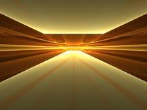 3d enlightenment fractal złoty krajobraz royalty ilustracja