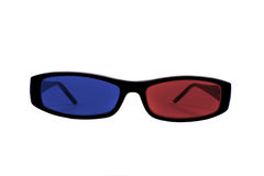 3D Entertainment Glasses Stock Photography