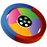 3D Entertainment Wheel. An image of a 3D entertainment wheel - blank Stock Image