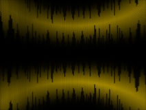 3D equalizer. Abstract 3D equalizer from yellow cubes Stock Image
