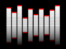 3d equalizer on black. 3d render of light equalizer on black background Royalty Free Stock Image