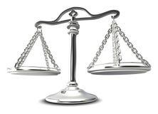 (3d) Escalas de justiça Fotografia de Stock
