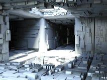 3D espacio Sation Foto de archivo libre de regalías