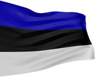 3D Estonian flag Royalty Free Stock Photo