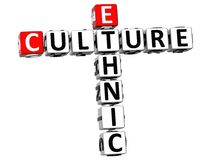 3D Ethnic Cultures Crossword Royalty Free Stock Photography