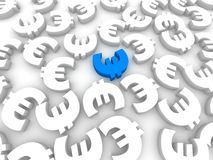 3d euro Stock Image