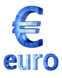 3d euro currency sign. Isolated on white Royalty Free Stock Photo
