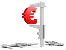 3d euro end calliper Royalty Free Stock Images