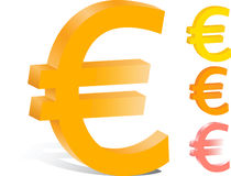 3d euro finanse loga wektor Obraz Royalty Free