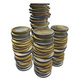 3d euro golden coins Stock Photography