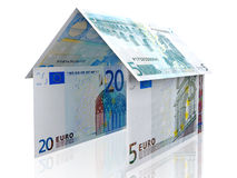 3D Euro house Stock Images