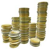 3d euro pieniądze Zdjęcie Stock